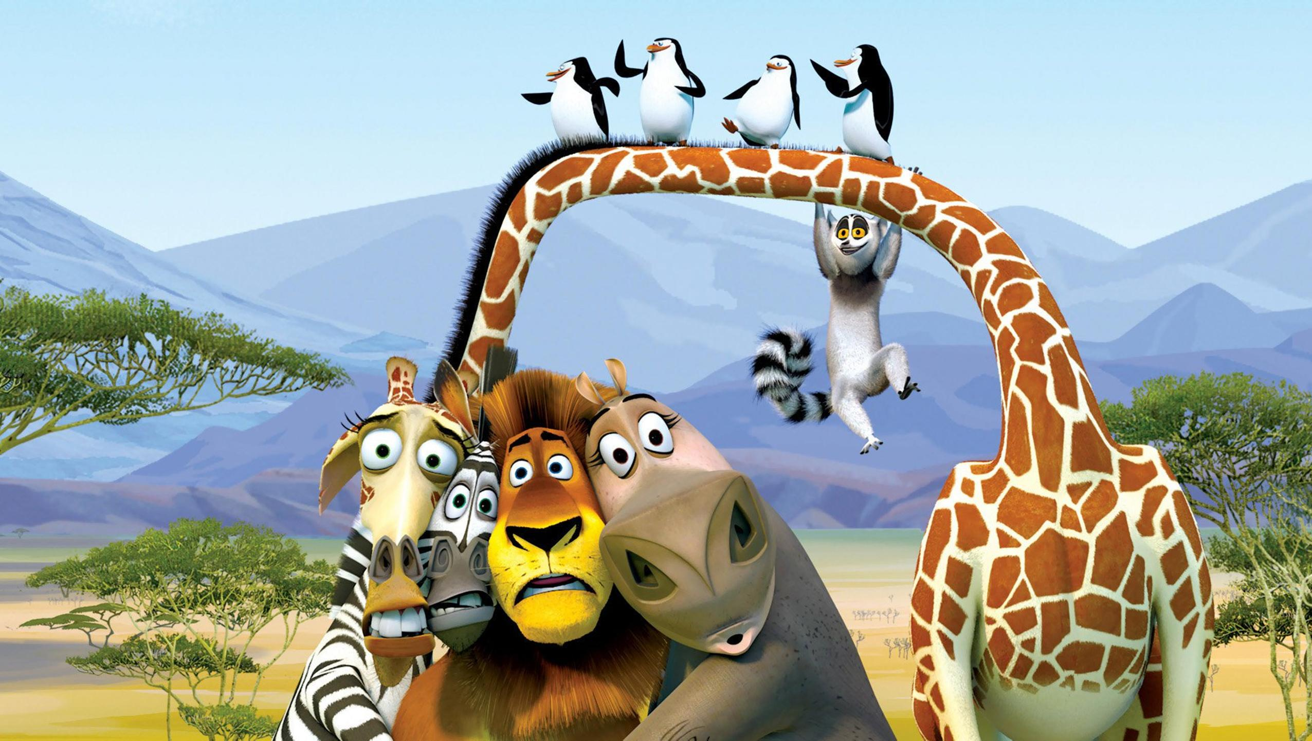 "Wallpaper for ""Madagascar: Escape 2 Africa"" (2008)"