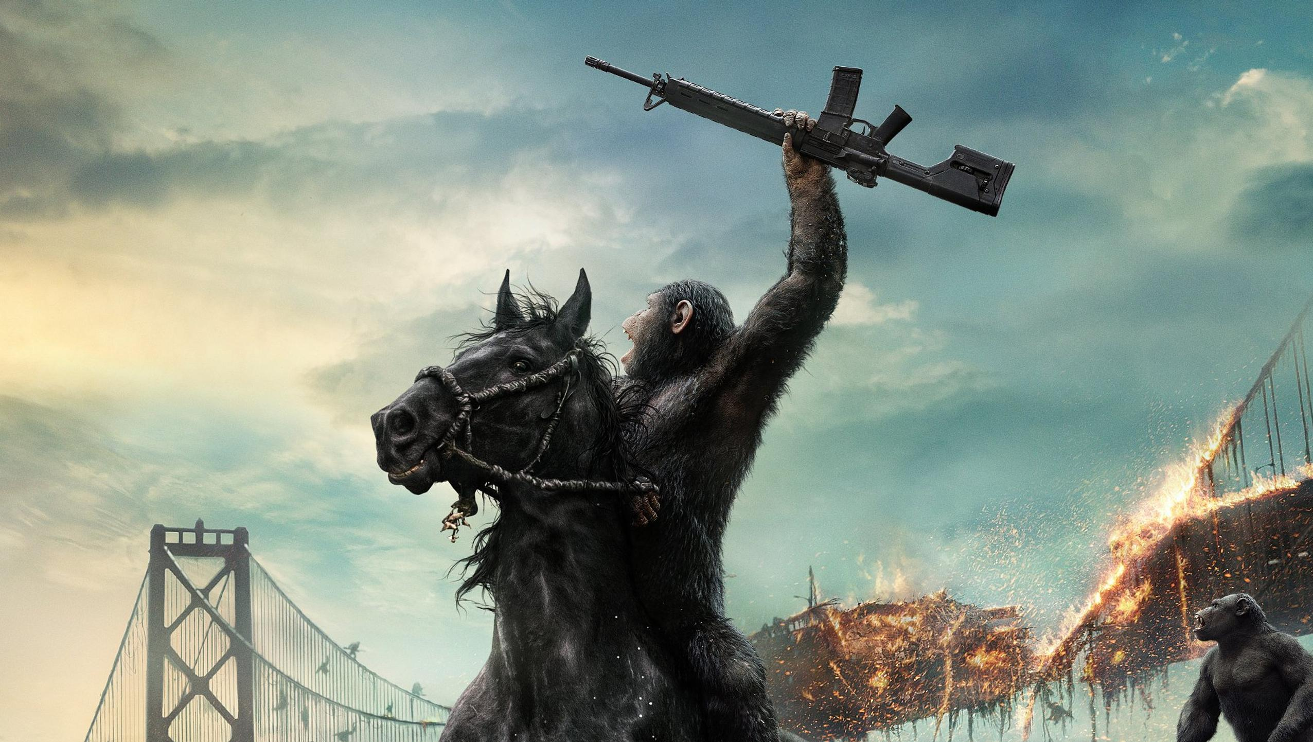 "Wallpaper for ""Dawn of the Planet of the Apes"" (2014)"