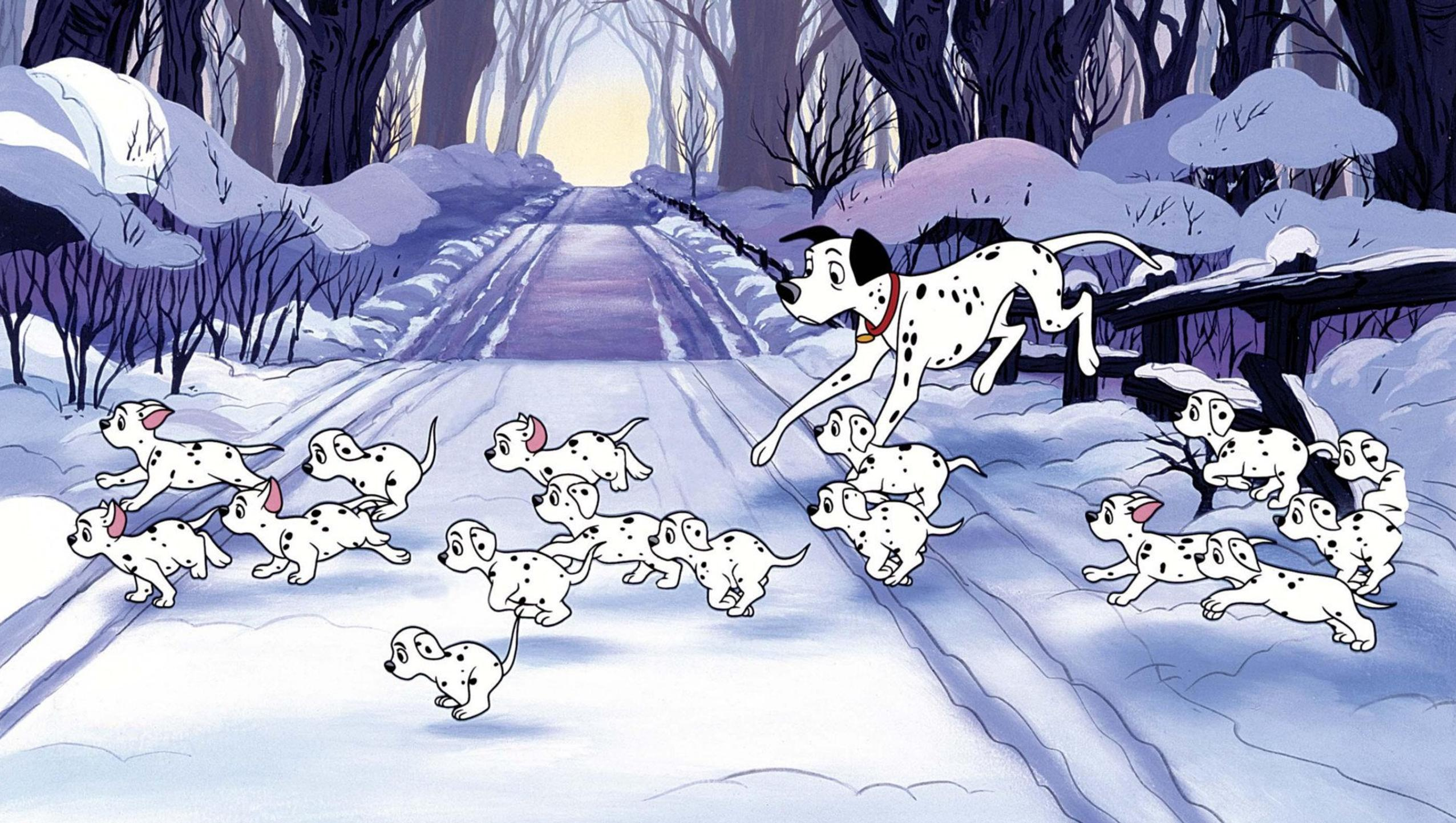 "Wallpaper for ""One Hundred and One Dalmatians"" (1961)"