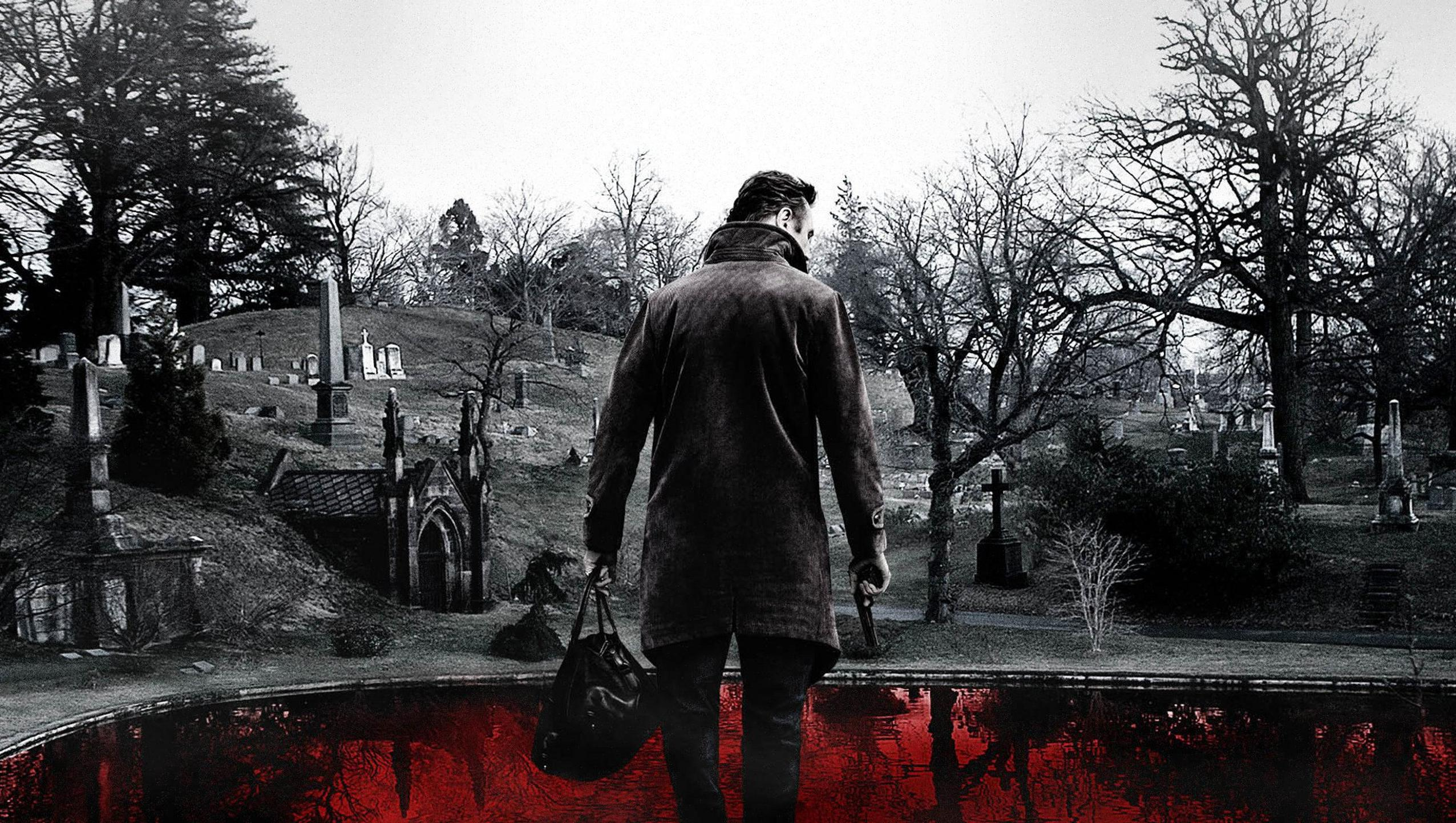 "Wallpaper for ""A Walk Among the Tombstones"" (2014)"
