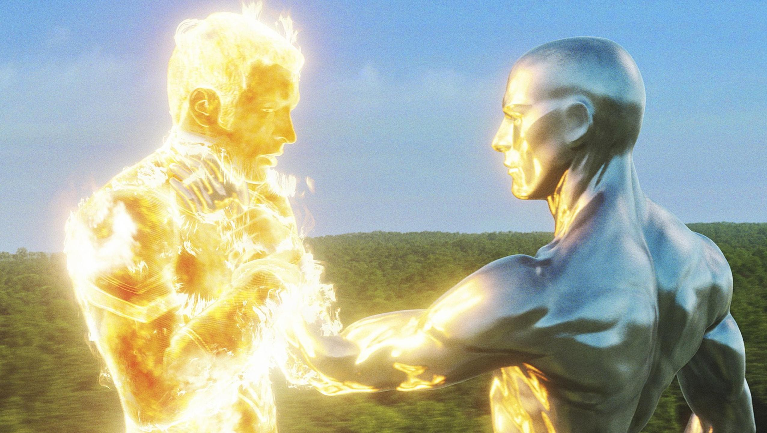 "Wallpaper for ""Fantastic Four: Rise of the Silver Surfer"" (2007)"