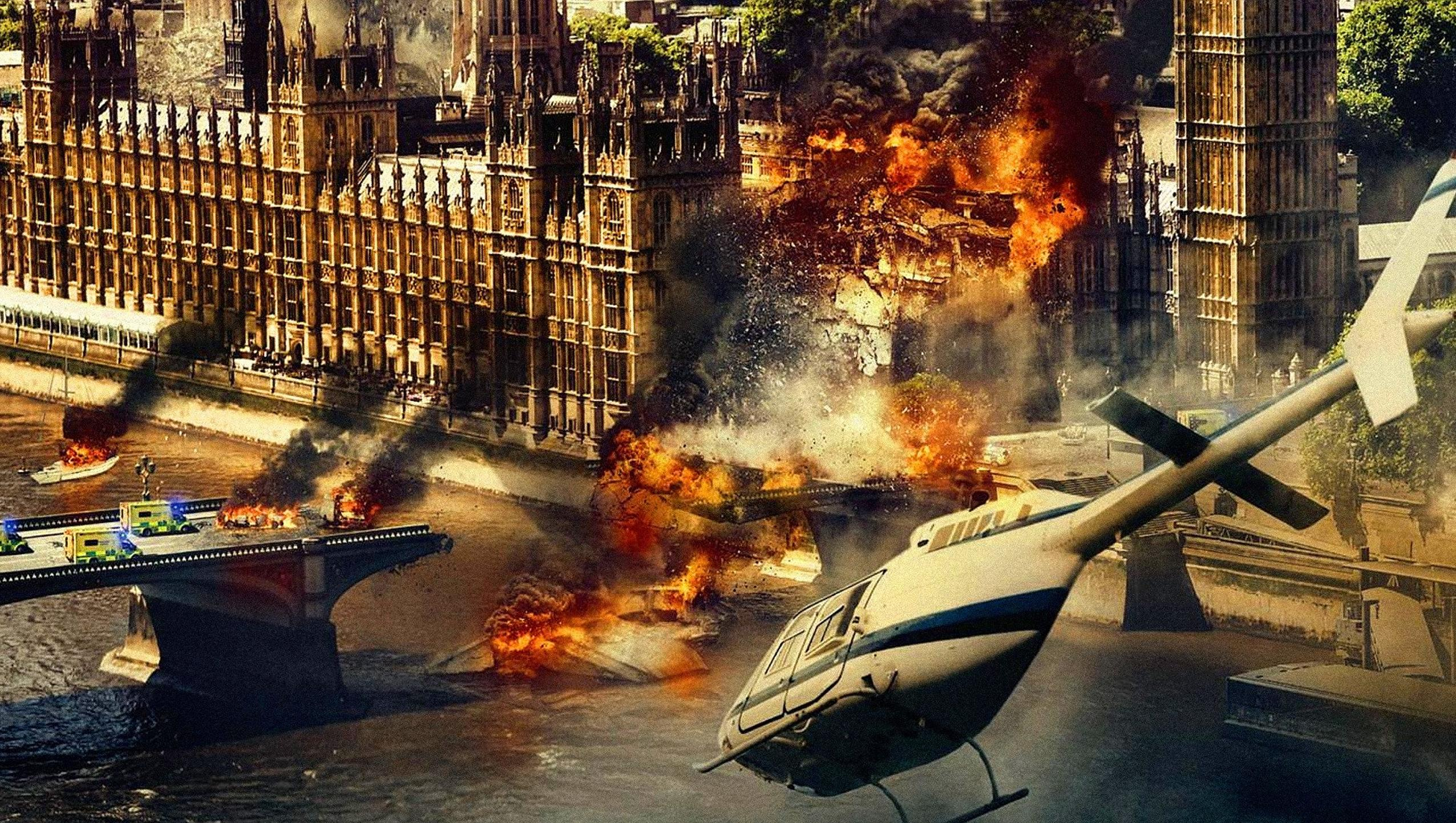 "Wallpaper for ""London Has Fallen"" (2016)"