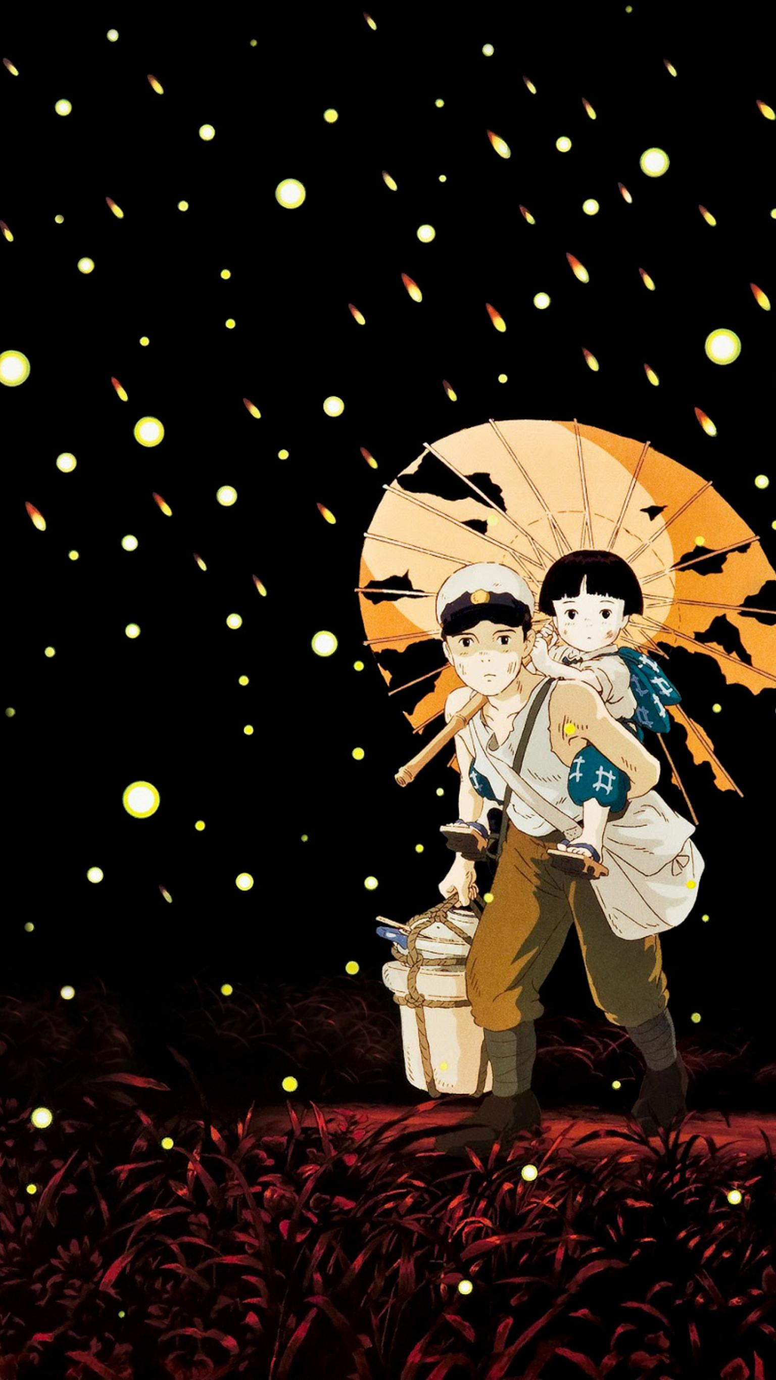 Grave Of The Fireflies 1988 Phone Wallpaper Moviemania