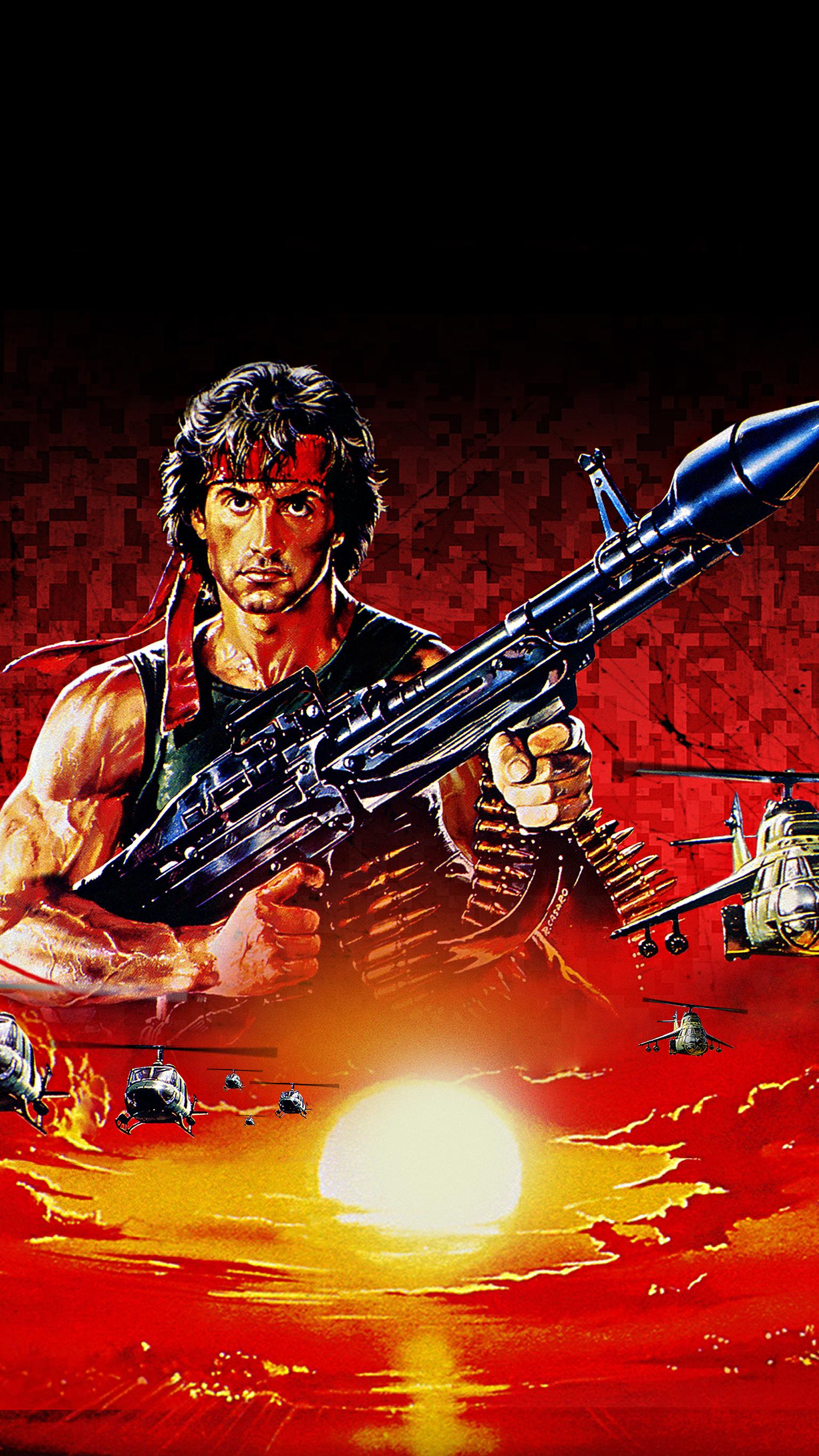 "Wallpaper for ""Rambo: First Blood Part II"" (1985)"