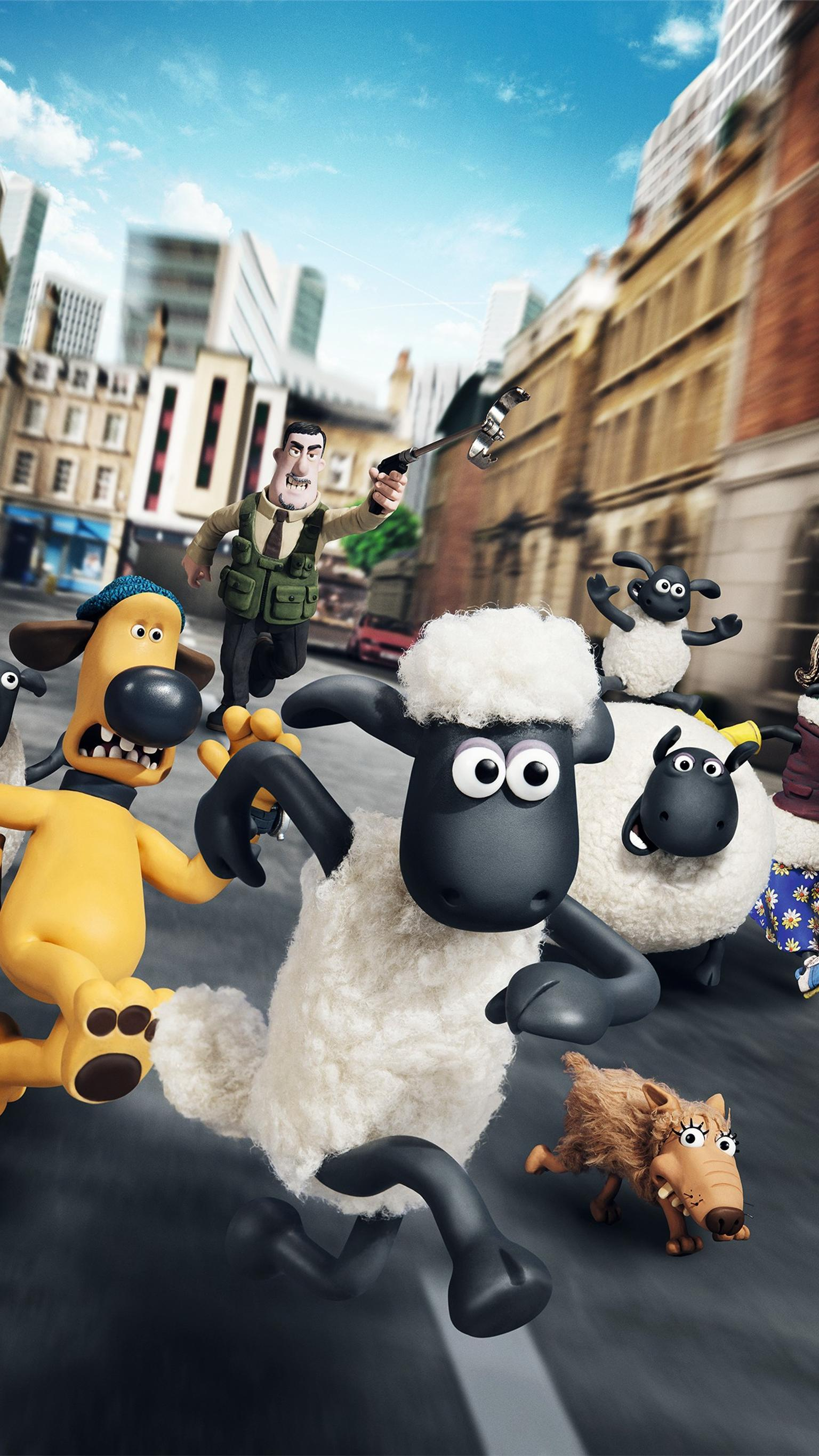 "Wallpaper for ""Shaun the Sheep Movie"" (2015)"