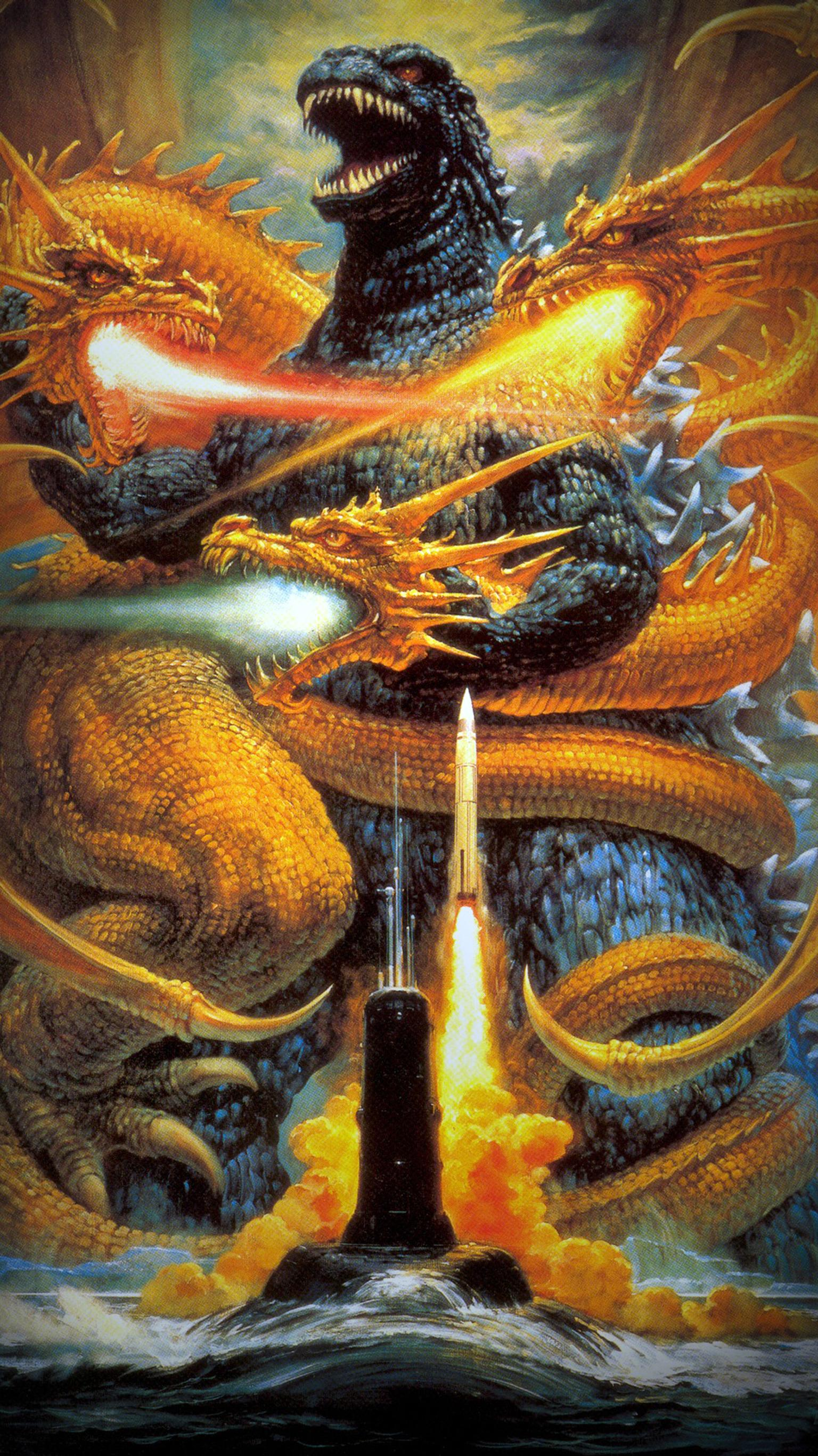"Wallpaper for ""Godzilla vs. King Ghidorah"" (1991)"
