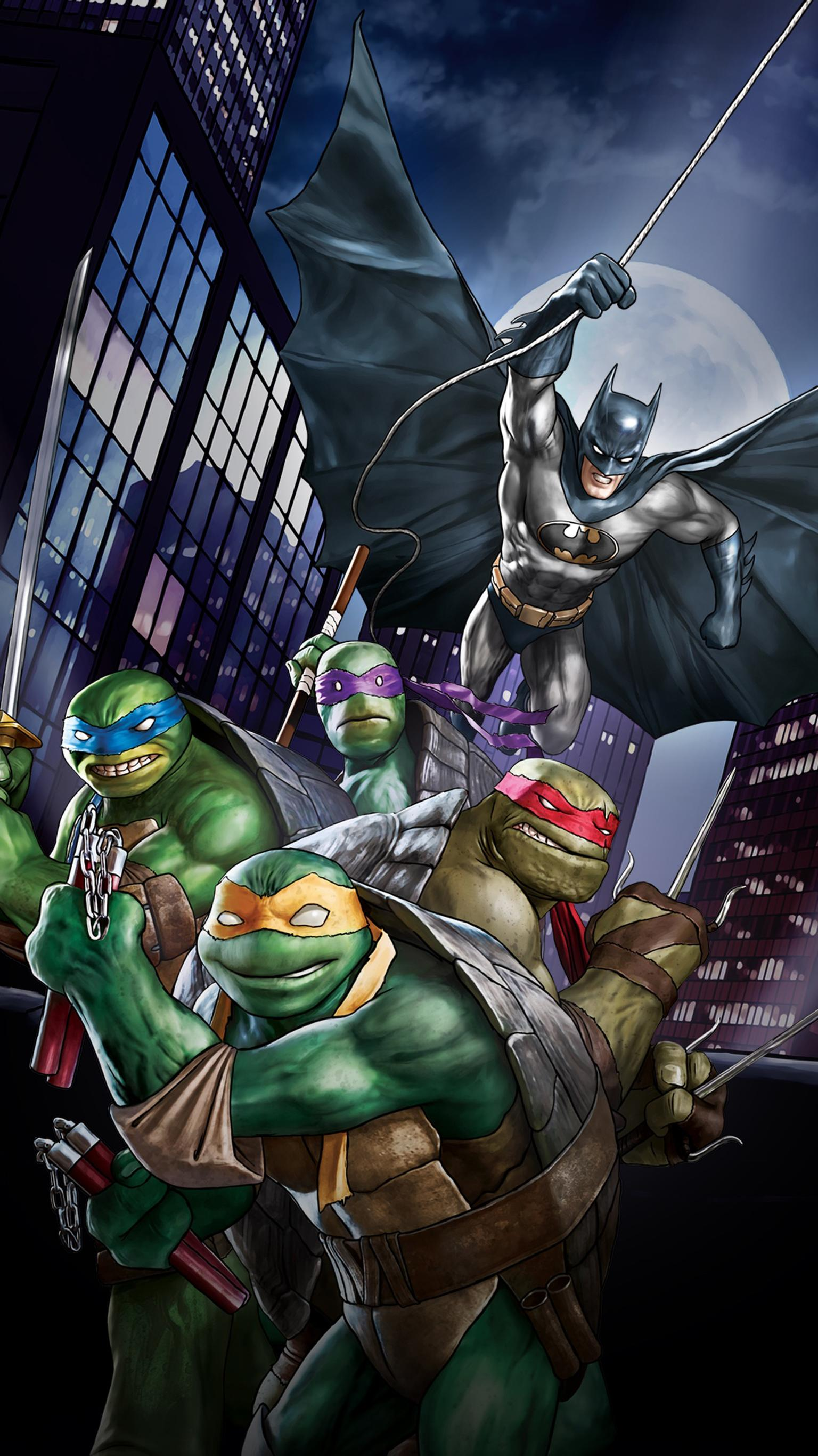 "Wallpaper for ""Batman vs. Teenage Mutant Ninja Turtles"" (2019)"