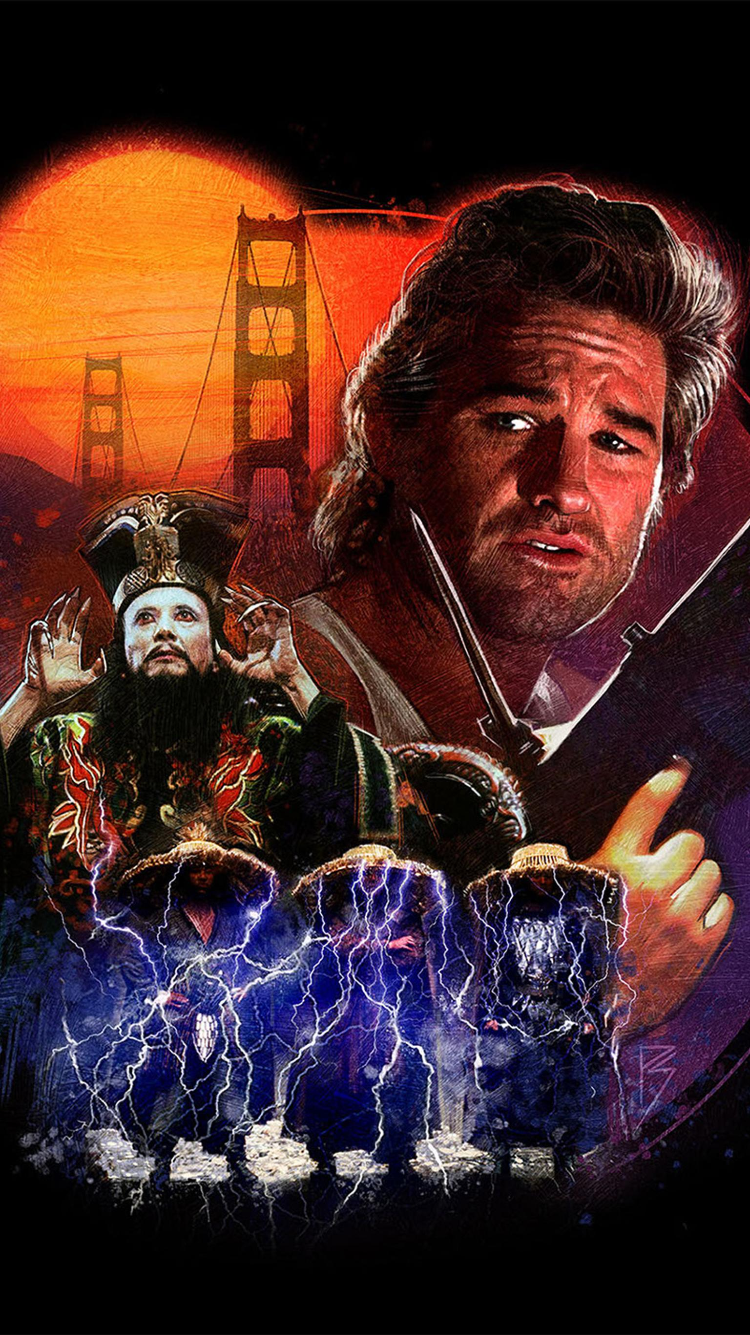 "Wallpaper for ""Big Trouble in Little China"" (1986)"