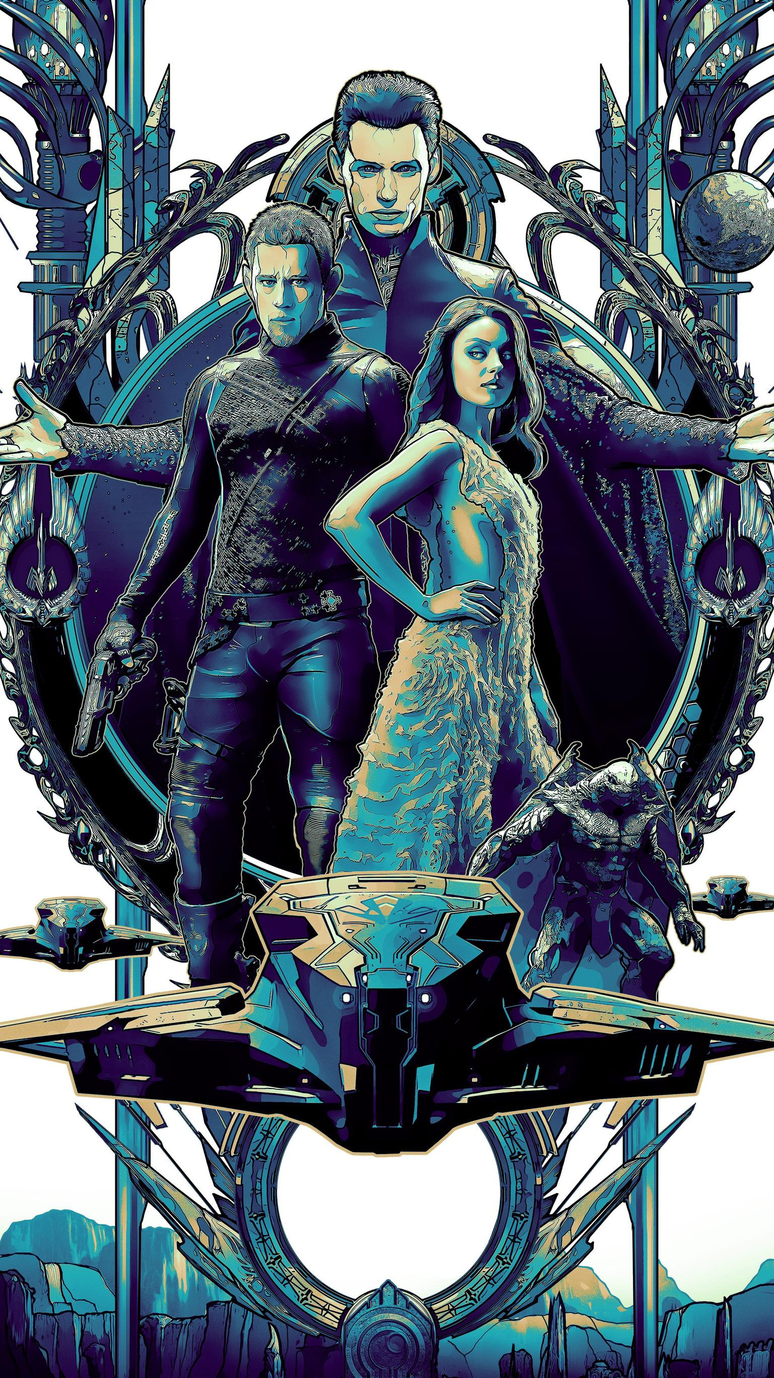 "Wallpaper for ""Jupiter Ascending"" (2015)"