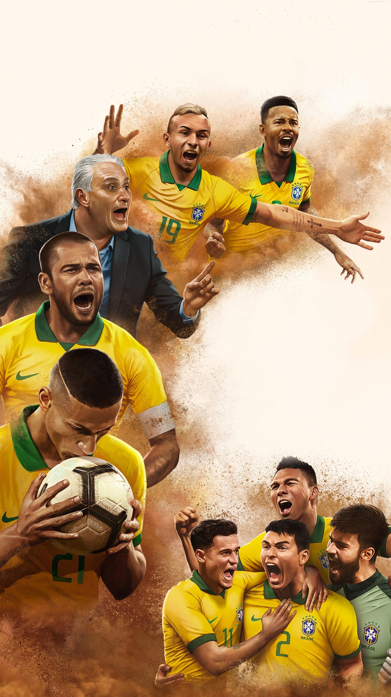 "Wallpaper for ""All or Nothing: Brazil National Team"" (2020)"